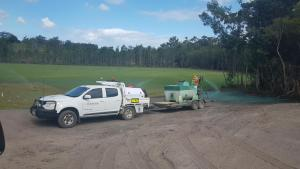 Ute and Hydromulcher
